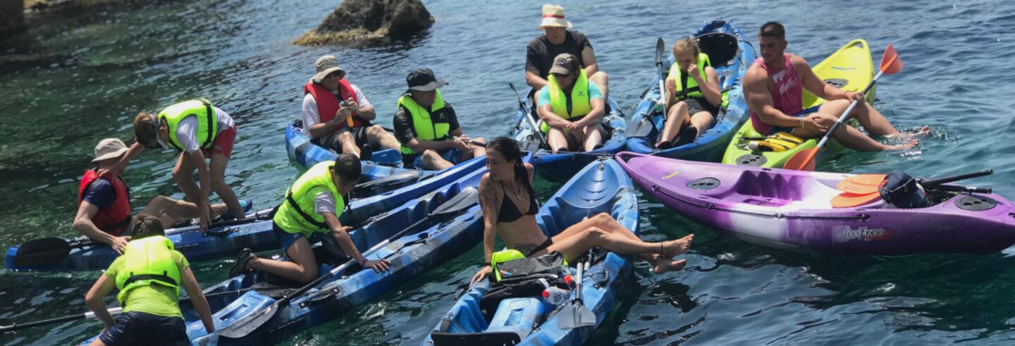 Kayak e snorkeling a Cala Cerrada