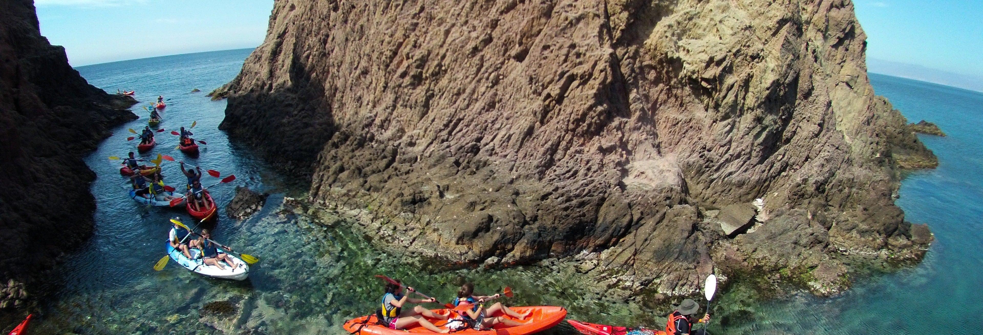 Kayak + snorkel por el Cabo de Gata