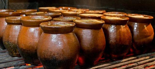 Cocido madrileño en el restaurante La Rayúa