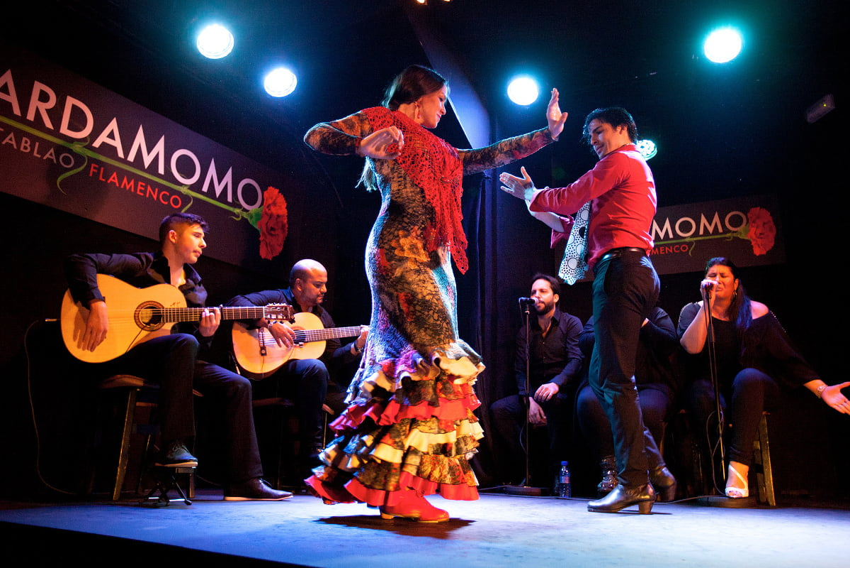 Show flamenco en el tablao Cardamomo, Madrid