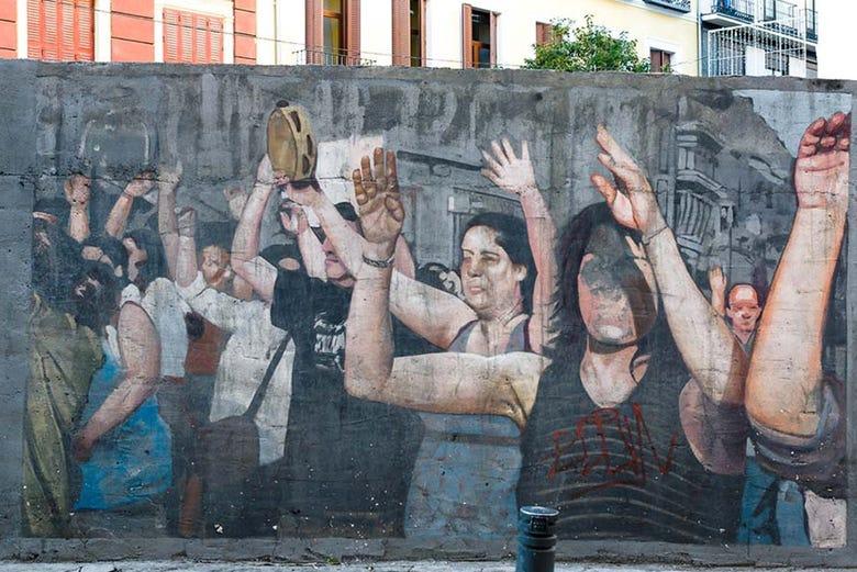 Visite à la découverte de l'art urbain de Lavapiés