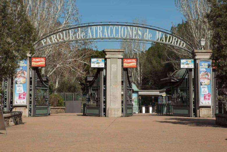 Billet pour le parc d'attractions de Madrid