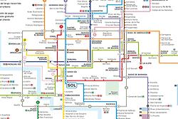 Mappa Metro di Madrid