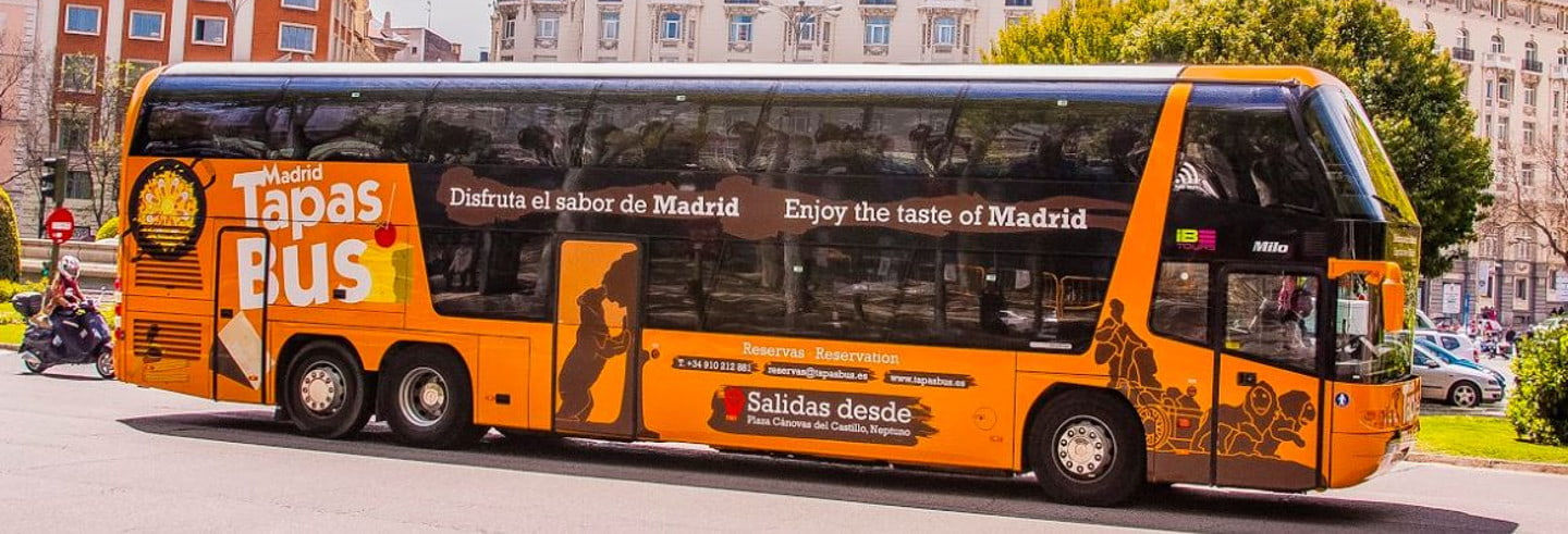 Madrid Bus Sightseeing Tour with Tapas