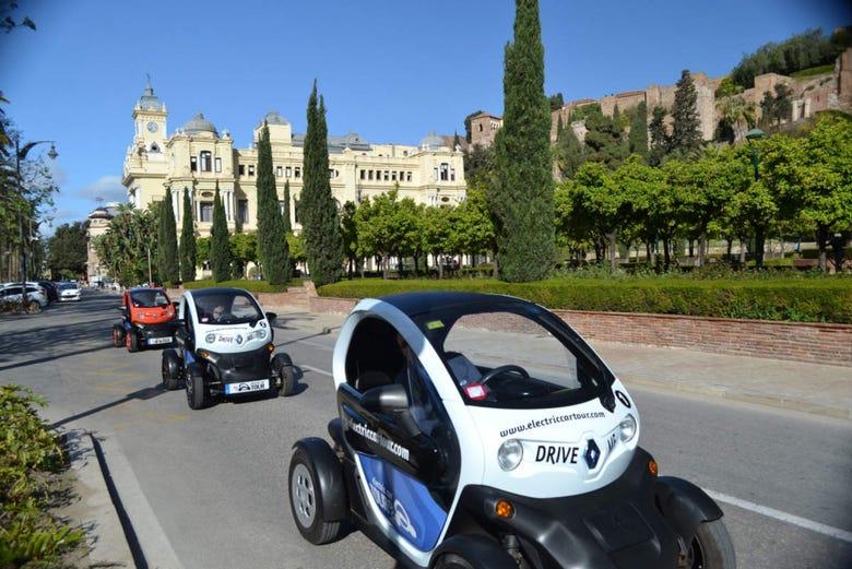 Visite en voiture électrique dans Malaga