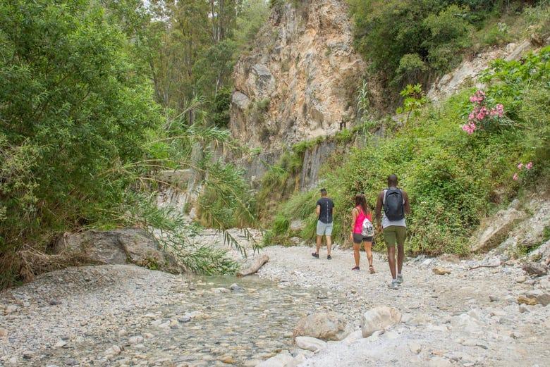 Randonnée aquatique dans la Route des Cahorros