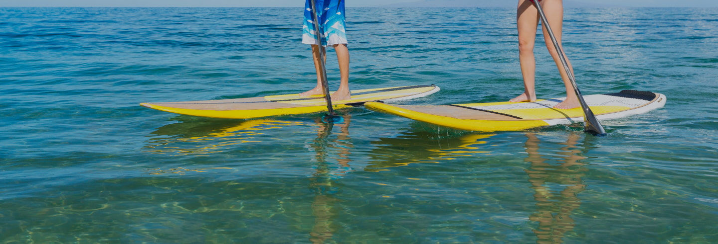 Stand up paddle sur la Costa Brava