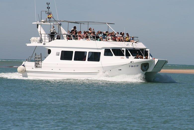 Balade en bateau à Sancti Petri