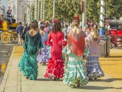 Flamencas da feira de Sevilha