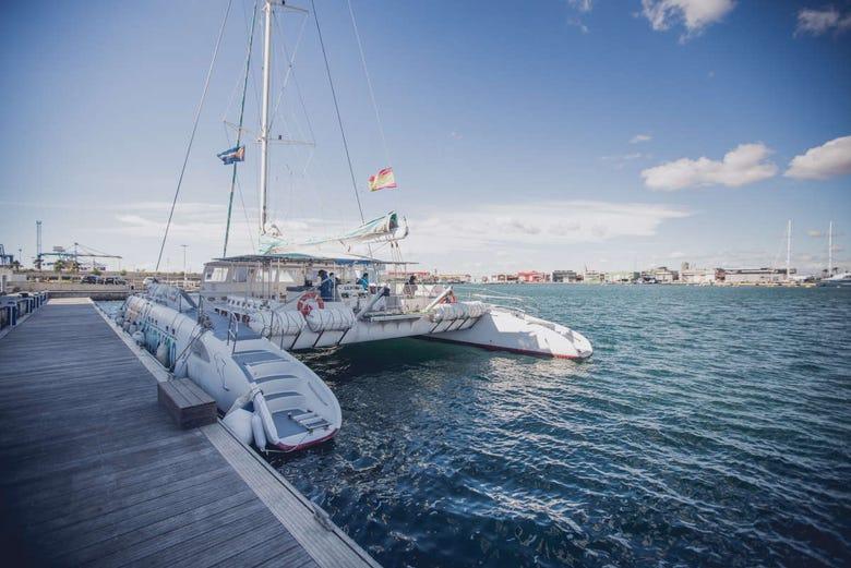 Balade en catamaran à Valence avec déjeuner