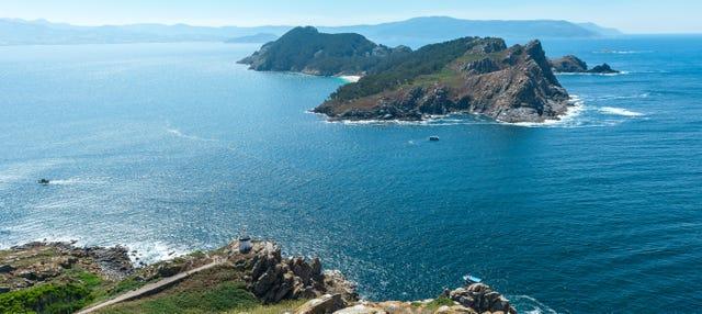 Paseo en avioneta sobre las islas Cíes