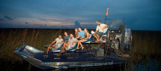 Paseo nocturno en aerodeslizador por los Everglades