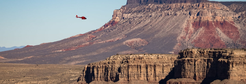 Balade en hélicoptère au-dessus du Grand Canyon