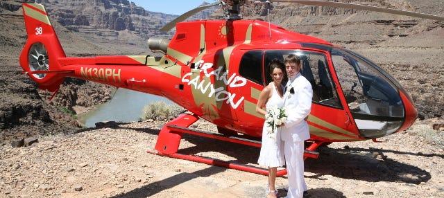 Boda en el Gran Cañón + Helicóptero