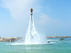 Enjoying the flyboard experience in Miami