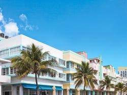 Typical Art Deco buildings in Miami