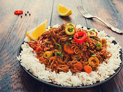 Ropa Vieja, one of the most typical Cuban dishes