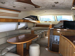 Inside your private boat