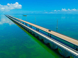The Seven Mile Bridge from above