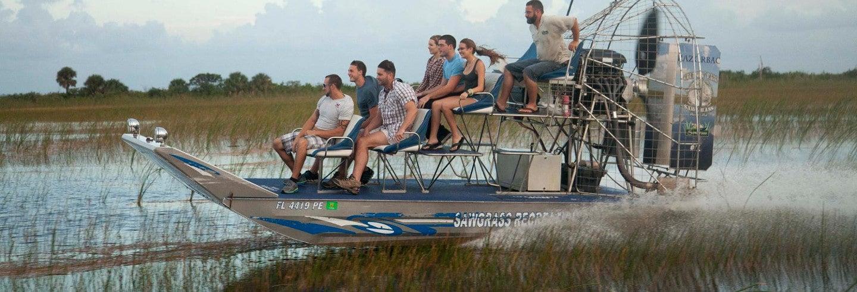 Paseo privado en aerodeslizador por los Everglades