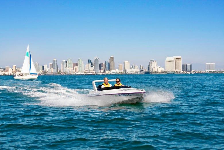 Balade en bateau à moteur dans San Diego