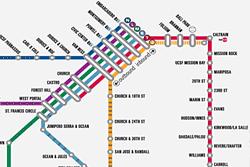 Mapa MUNI Metro