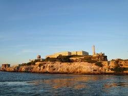 Alcatraz Island, in the bay of San Francisco