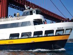 Cruising across San Francisco Bay towards Sausalito by ferry