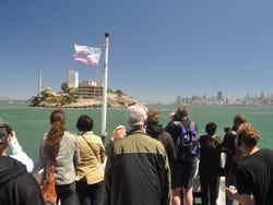 Sailing towards Alcatraz Island
