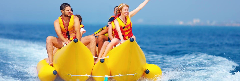 Passeio de banana boat por Boracay