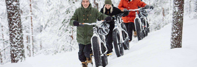 Tour en bicicleta por el Parque Nacional Pyhä-Luosto