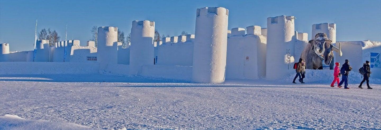 Excursion au château de neige de Kemi, dîner inclus