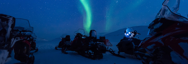 Northern Lights Snowmobile Ride