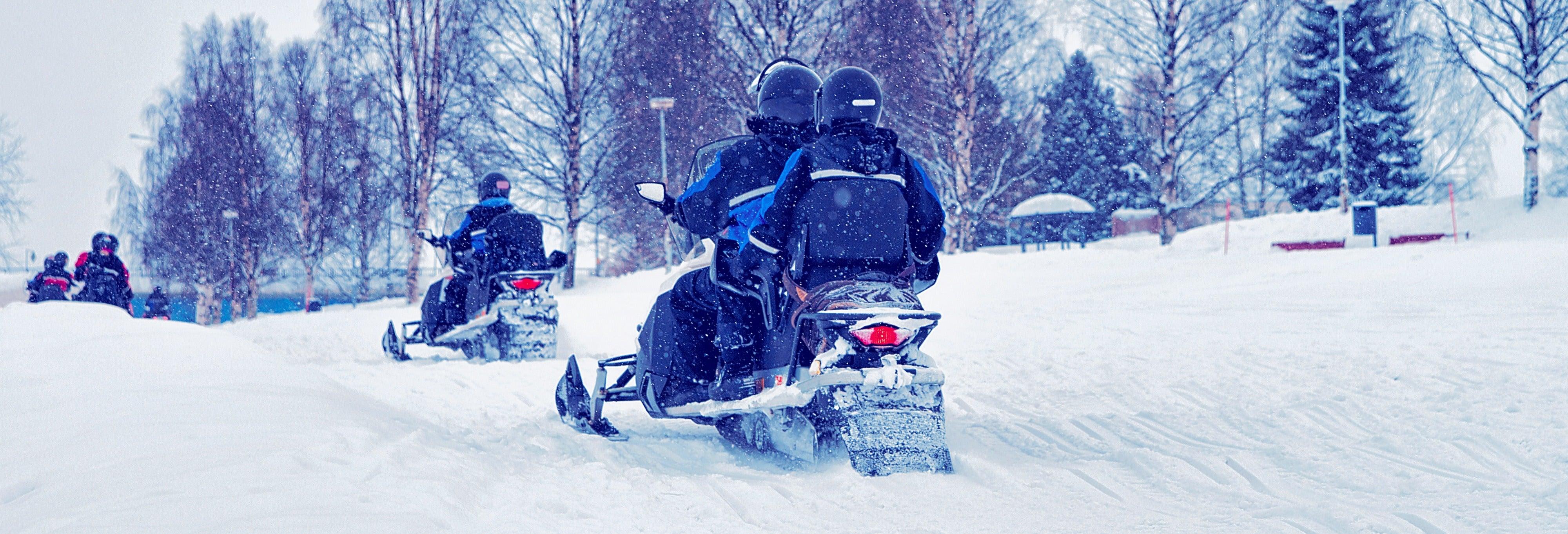 Passeio de moto de neve + Pesca no gelo