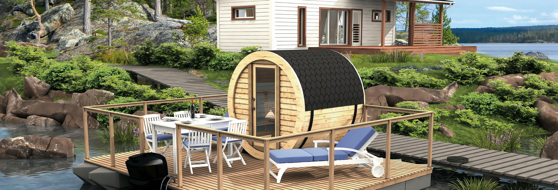 Sauna finlandesa flutuante