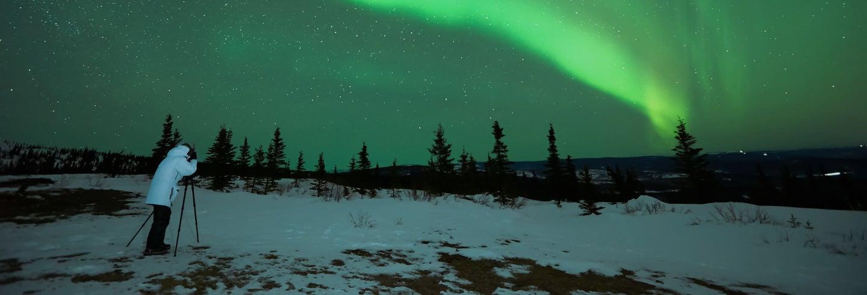 Excursion photo des aurores boréales + feu de camp