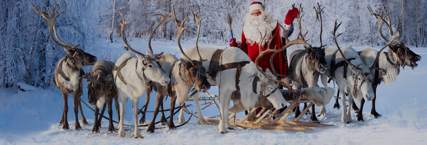 Santa Claus and Reindeer Experience by Snowmobile