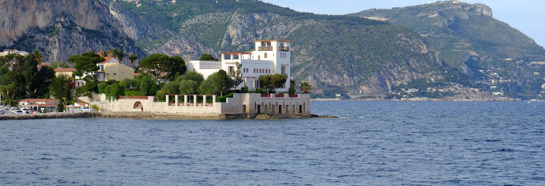 Entrada a la Villa Kérylos sin colas