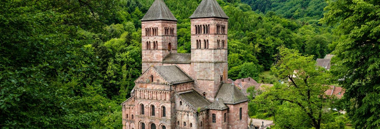 Tour por Eguisheim, Turckheim e abadia de Murbach
