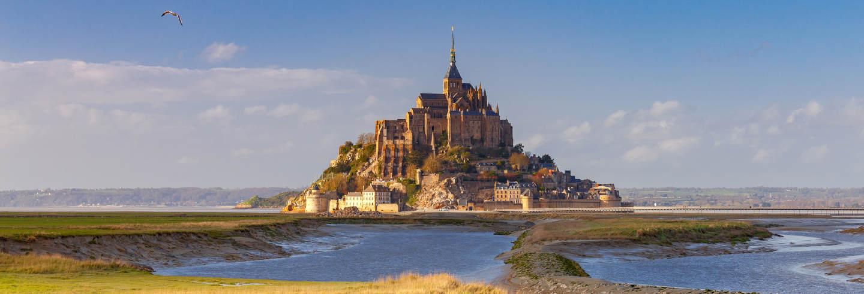 Entrada a la abadía del Mont-Saint-Michel sin colas
