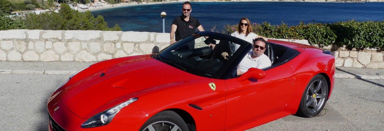 Tour della Costa Azzurra in Ferrari o Lamborghini