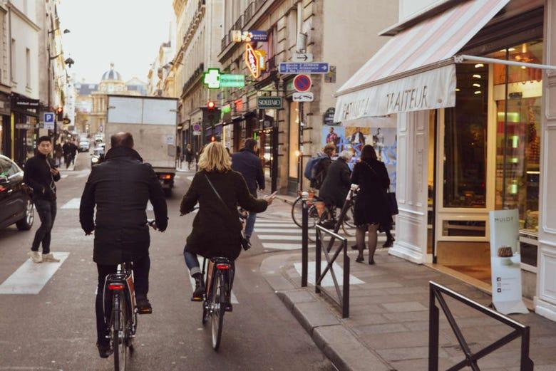 Balade à vélo dans Paris