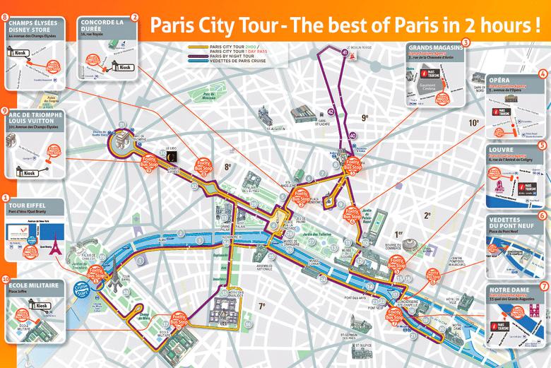 Lopen Tour Paris Map.Paris City Bus Tours Big Bus Paris Opentour And Foxity