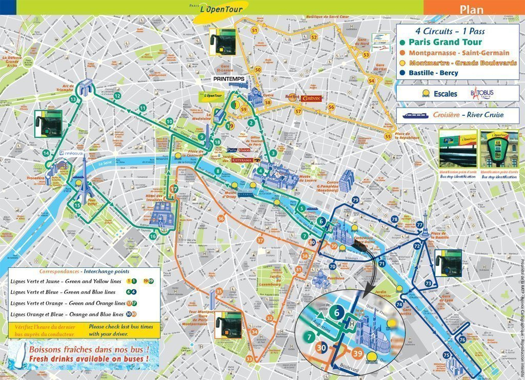 Mapa De Paris Centro.Paris City Bus Tours Big Bus Paris Opentour And Foxity