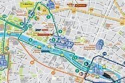 OpenTour Paris, itinerarios