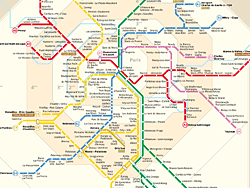 Mapa do RER de Paris