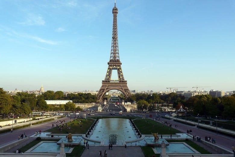 La Torre Eiffel desde el Trocadero
