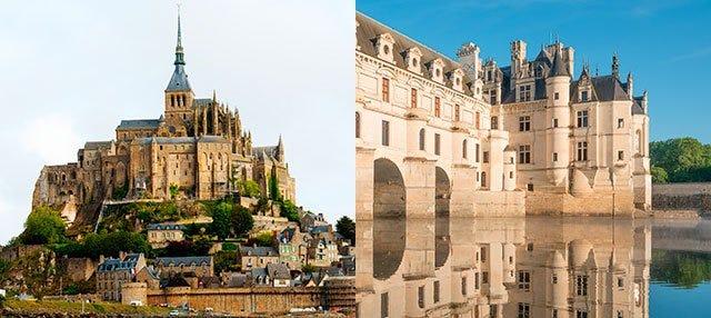 Mont Saint Michel y Castillos del Loira en 2 o 3 días