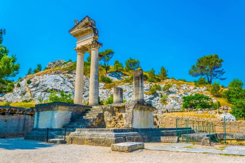 Entrée au site archéologique de Glanum