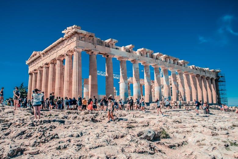 Acrópolis desde la terraza del hotel